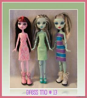 DRESS LOT #13 Clothes Clothing Handmade 4 MONSTER HIGH DOLL Custom