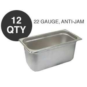 12 THIRD SIZE 6D ANTI JAM STEAM TABLE PAN   NSF Kitchen