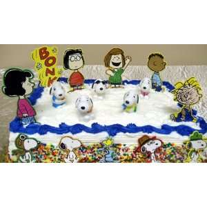 Peanuts Cake Pieces Including Lucy, Peppermint Patty, Pig Pen, Marcie
