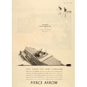 1935 Ad Pierce Arrow Motor Car Automobile Golfing Sport