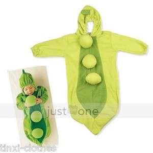 Cute Baby Toddler Big Bean Pea Pod Warm Swaddle Sack Sleeping Bag