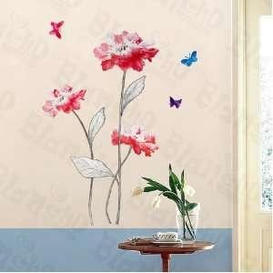 HEMU HL 5609   Elegant Flowers   Large Wall Decals Stickers