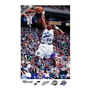 NBA Utah Jazz Karl Malone Mural Wall Graphic Sports