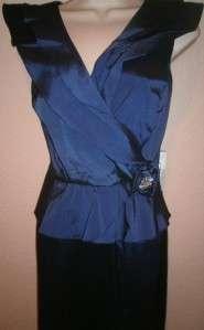 Patra Womens Dress Gown Full Length Blue SZ 10 NWT