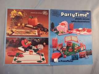 Party Time Plastic Canvas Table Decorations Leaflet