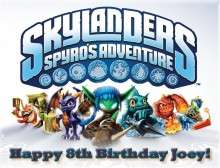 Skylanders #16 Edible CAKE Icing Image topper frosting birthday party
