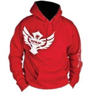 Fly Racing Badge Hoody   2010   2X Large/Red Automotive