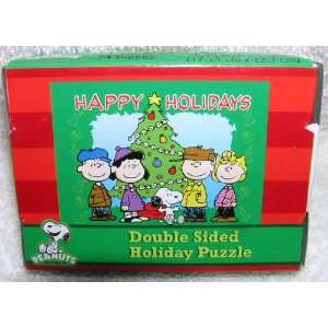 Peanuts Gang Snoopy and Linus Small Double Sided Christmas Holiday