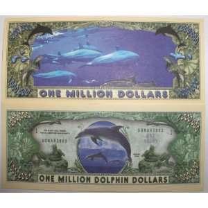Set of 10 Bills Dolphin Million Dollar Bill Toys & Games