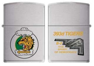 393d Bomb Squadron TIGERS USAF B 2 Zippo MIB BC