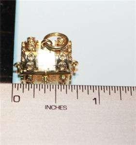 18K GOLD JEWELRY BOX CHARM PENDANT 9.2 GRAMS