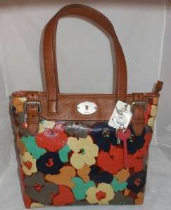 Fossil Key Per Floral Shopper Bag Purse Handbag NWT ZB5126919