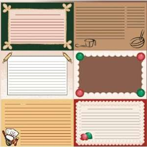 Baking: Recipe Cards 12 x 12 Paper: Home & Kitchen