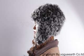522 new real knit fox fur 4 color hat /caps