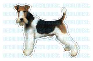 WIRE FOX TERRIER Dog Decal sticker car got dogs