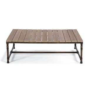 Hyde Park Teak top Outdoor Coffee Table   Frontgate, Patio