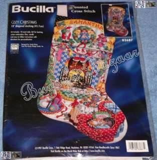 Bucilla COZY CHRISTMAS Stocking Counted Cross Stitch Kit  S. Orton