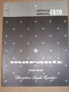 Marantz Service/Repair Manual~EQ20 Graphic Equalizer