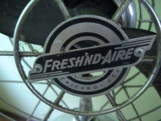 VINTAGE FRESHND AIRE FAN MODEL 17RC   Deco   Machine Age