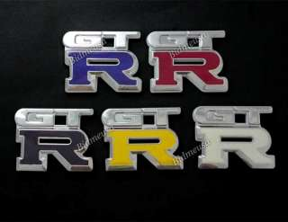 Pcs Nissan Skyline GTR GT R Chrome Badge Emblem Logo