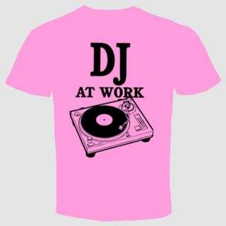 DJ T shirt Retro Music Funny Cool Clubbing Wear Head Phones Turntable