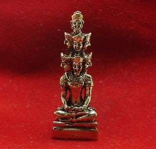FACES BUDDHA THAI AMULET WIN ALL OBSTACLES LUCKY RICH