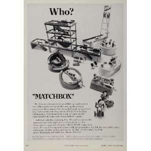 1971 Ad Matchbox Preschool Toys Building Sets Cars   Original