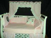 PINK Baby Nursery Crib Bedding Set w/Oakland Raiders