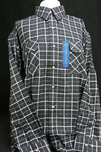 NWT Williams Bay Black Plaid Sz L Mens Shirt Flannel
