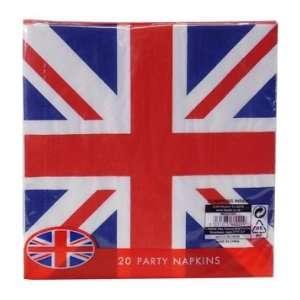 Union Jack (British Flag) Disposable 2ply Paper Napkins