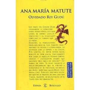 Olvidado Rey Gudu (Spanish Edition): Ana Maria Matute: 9788423996551