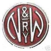 NORFOLK & WESTERN RAILWAY N&S RAILROAD LOGO PIN BADGE