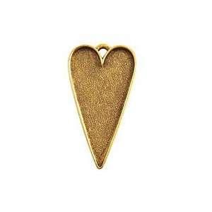 Nunn Design Antique Gold (plated) Grande Heart Bezel