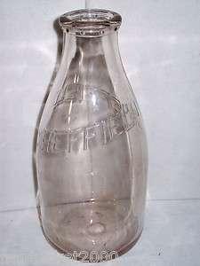 Early 1900s Vintage Clear Glass Milk Bottle Embossed SHEFFIELD New