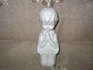 vintage GDR German bisque porcelain figurine of a praying boy
