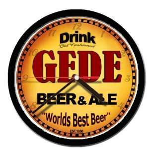GEDE beer and ale cerveza wall clock: Everything Else