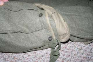 Vtg NIEMANN & Co ARMY Wool HUNTING Cargo PANTS 31x30