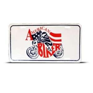 American Biker Bike Metal Novelty License Plate Wall Sign