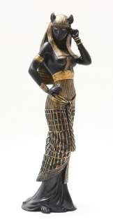 ANCIENT EGYPTIAN LARGE GODDESS BASTET STATUE CAT HUMAN FORM DEITY