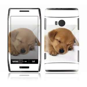 Nokia X7 Decal Skin Sticker   Animal Sleeping Puppy