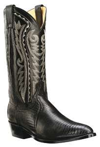 Dan Post Genuine Lizard Mens Western Cowboy Boots Black DP2350R Size