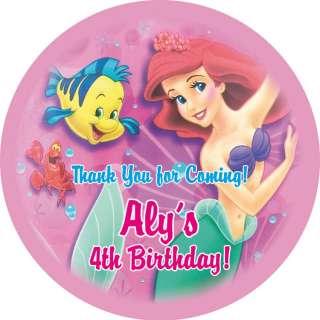 Ariel Little Mermaid Personalized 2.5 Favor Labels