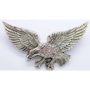 Flying American Eagle Belt Buckle   Silver Color
