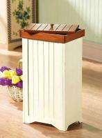 Wooden Trash Bin Shaker Garbage Can Ivy Rolling Rattan