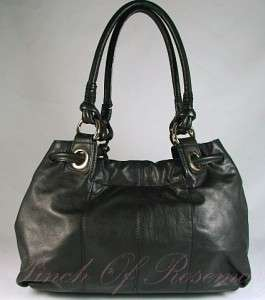Michael Kors Greenport Leather Large Tote Bag Purse Black