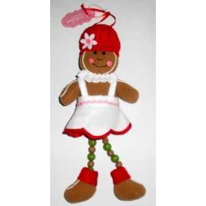 Sweet Treat Plush and Beaded Gingerbread Woman Hanging
