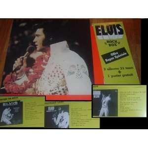 Presley   Rock Box  , 3 albums 33 tours + 1 poster gratuit Music
