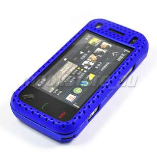 HARD MESH CASE COVER POUCH FOR NOKIA N97 MINI BLUE