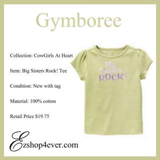 New Gymboree Girl Cowgirls At Heart Big Sis Top Size 6