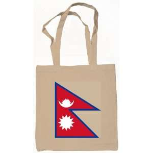 Nepal Nepali Nepalese Flag Canvas Tote Bag Natural